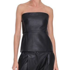 COPY - Tibi Leather Strapless Bustier